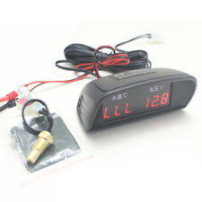 2 Funtions Lcd Digital 12/24v Car Truck Voltmeter+Water Temp Gauge Thermometer