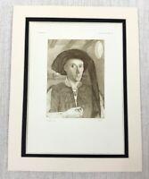 1927 Antico Stampa Olandese Vecchio Master Pittura Edward Grimston Petrus