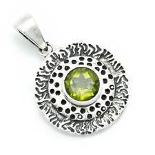 Hanger 925 sterling zilver peridoot groene steen