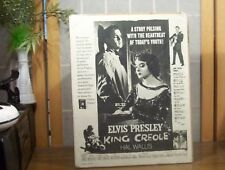 "ELVIS PRESLEY ""King Creole"" 1958 Seventeen Magazine Advertisement Rare VG+"