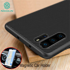 NILLKIN For Huawei P30 Pro Slim Synthetic Carbon Fiber Magnetic Back Case Cover