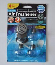 CAR VENT AUTO AIR FRESHENER WITH 3 REFILL AIR PUR COMPATIBLE  AQUA FRESH SCENT
