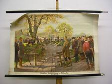 Wandbild schöne alte Karte Gerichtssitzung Mittelalter Thing 99x67 vintage ~1935