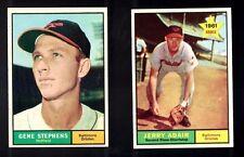 1961 Topps GENE STEPHENS #102 Baltimore Orioles  EM / NM VINTAGE Baseball Card