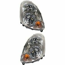 Headlight Set For 2003-2004 Infiniti G35 Sedan Driver and Passenger Side w/ bulb