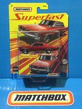 2020 MATCHBOX SUPERFAST 1964 PONTIAC GRAND PRIX #14 RED TRUE GRIP RUBBER TYRES