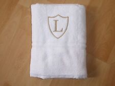 Personalised Embroidered Adult White Bath Towel Name Monogram Wedding Gifts