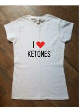 I LOVE KETONES Diet Calorie Low Carb Printed T Shirt Women's Fashion Gift Fun