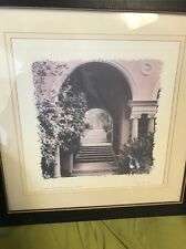 Alan  Blaustein Le Jardin Florentine Provence France  Matted Print Signed Framed