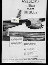 B.O.A.C ROLLS ROYCE CONWAY BY PASS TURBO JET ENGINES ON BOEING 707 JETS 1960 AD
