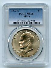 1973 S $1 Silver Ike Eisenhower Dollar PCGS MS68