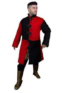new Padded Cotton Black & Red Color Gambeson New Costume Reenactment