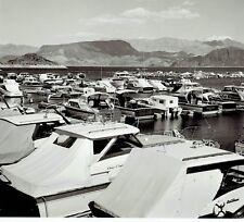 1963 Original Photo speed boats & watercraft cruisers dock at Lake Mead Marina