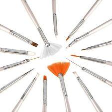 15 Pcs Nail Art Acrylic UV Gel Design Brush Set Painting Pen Tips Tools kit
