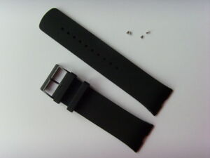 Uhrband Silikon Silicone schwarz SKAGEN original SKW6075 watch strap black