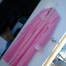 0b22929b7d7 Vintage Baby Pink Dressing Gown Robe Nightgown Lingerie sz 14