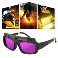 Solar Powered Auto Dimming Welding Glasses Lightweight Goggle for Argon Arc