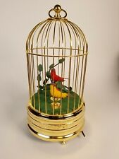 Vintage West German Automaton Birds In Cage Beautiful Working Condition! Video.