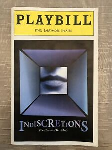 INDISCRETIONS Apr 1995 Broadway COLOR Playbill! KATHLEEN TURNER Jude Law +!