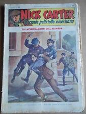 Nick Carter Il Grande poliziotto americano Anni 40 n°43 ed. NERBINI  [G369]
