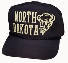 North Dakota Buffalo  Snapback Nylon Boardwalk Hat Cap  Black