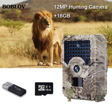 16GB 12MP Hunting Camera 1080P IP56 110°PIR Sensor Deer Hunter Wild Trail Camera