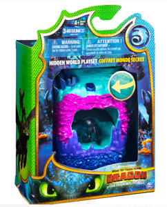 DreamWorks Dragons Hidden World Playset, Dragon Lair with Collectible Toothless