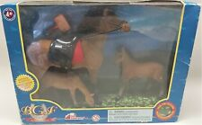 Blue Grass Farms SET of 3 HORSES Soft Mane & Long Tail Toy Concepts # 8492