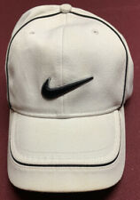 White Nike Golf Hat, Black Swoosh, Small/Medium, Euc