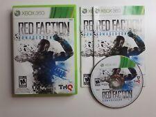 RED FACTION: ARMAGEDDON Xbox 360 Complete CIB w/ Box, Manual Good FREE SHIPPING!