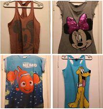 Disney Minnie Mickey Mouse Pluto Nemo Women's bundle pf T-shirts tops size 8