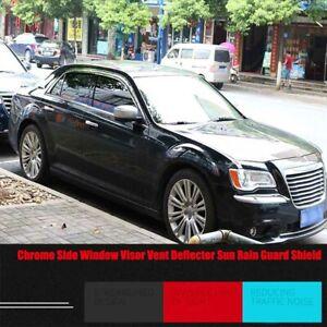 Chrome Side Window Visor Deflector Sun Rain Guard Shield For Chrysler 300C