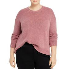 Eileen Fisher Womens Purple Wool Blend Round Neck Sweater Plus 1x BHFO 7017