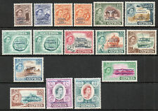 Cyprus 1960 QEII set of mint stamps value to £1 Lightly HInged