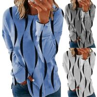 Womens Long Sleeve Casual Blouse Tops Ladies Baggy Loose Pullover Tunic T-Shirt