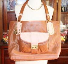 New NICOLE RICHIE COLLECTION Extra Large Tote + Clutch Duo Soft Leather Brown