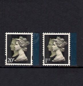 GB 2009 sg2955-6 Treasure Of The Archive Double Head Machins 20p 1st Litho MNH
