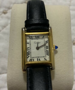 Vintage Tank Cartier 18K Gold ELECTROPLATED Watch Ladies