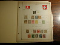 Switzerland dated 1854-1940 93+ stamps