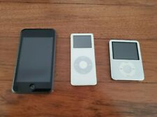 3 iPods bundle: 1 iPod Touch (1st Generation), 2 nano (Different Generations)