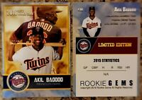 Akil Baddoo 2016 Limited Edition Custom Rookie Trading Card.  Minnesota Twins