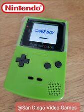New listing Nintendo Game Boy Color Launch Edition Kiwi Handheld System Ips V2 Gbc Backlit