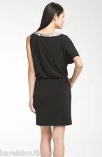 Donna Ricco Asymmetrical Jersey Blouson Dress Black Size 14