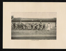 Chinese Funeral Procession - Heavy Coffin - China 1903 Print