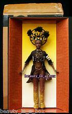 "MOJA Treasures of Africa Byron Lars Barbie Doll African American AA in SHIPPER"""