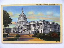 Linen Postcard Washington US Capitol C Teich New c.1939