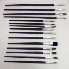 12PC ARTISTS PAINT BRUSH SET FINE OILS COLORS BRUSHES KIT OIL CRAFT AND ARTS NEW