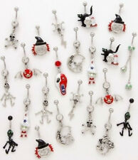 B#151- 9pc Halloween Mix Dangle Belly Rings Navel naval 316L Surgical Steel