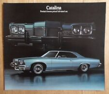 PONTIAC CATALINA orig 1973 USA Mkt Large Format Sales Brochure