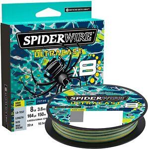 Spiderwire Ultracast Braid, Superline, 10lb test, 328yd , Aqua Camo